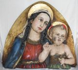 A LARGE VINTAGE MADONNA & CHILD PLAQUE, MARY & JESUS. Ref: AJU14